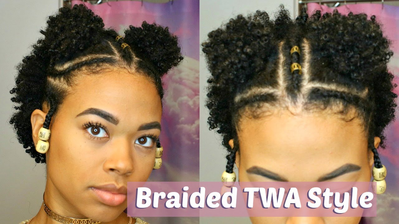 Braided Updo Styles For Natural Hair: Type 4 Natural Hair - YouTube