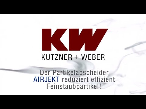 kutzner weber partikelabscheider airjekt youtube. Black Bedroom Furniture Sets. Home Design Ideas