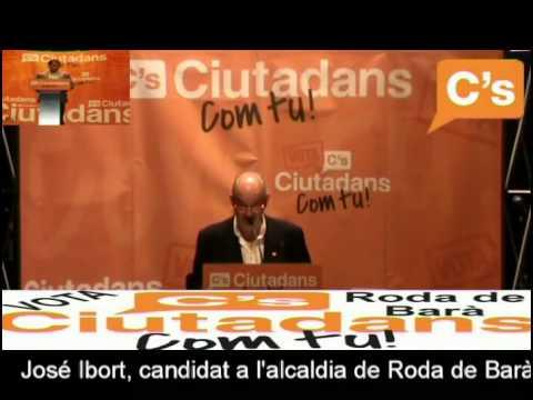 C's-Roda de Barà-intervención completa de José Ibort en el mitin electoral