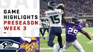 Seahawks vs. Vikings Highlights | NFL 2018 Preseason Week 3