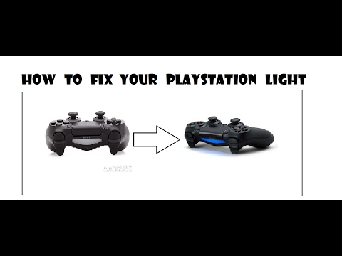 How to fix your light bar on a ps4 controller