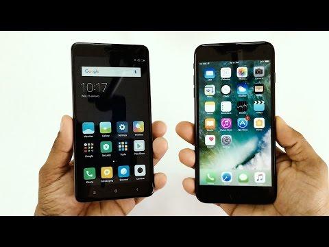 Xiaomi Redmi Note 4 vs iPhone 7 Plus Speed Test