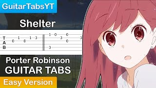 Porter Robinson - Shelter Guitar Tutorial | Guitar Lesson + TABS (Easy Version)