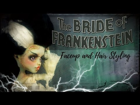 Bride of Frankenstein in 18th Century French Haute Couture / Custom OOAK Monster High Doll Repaint