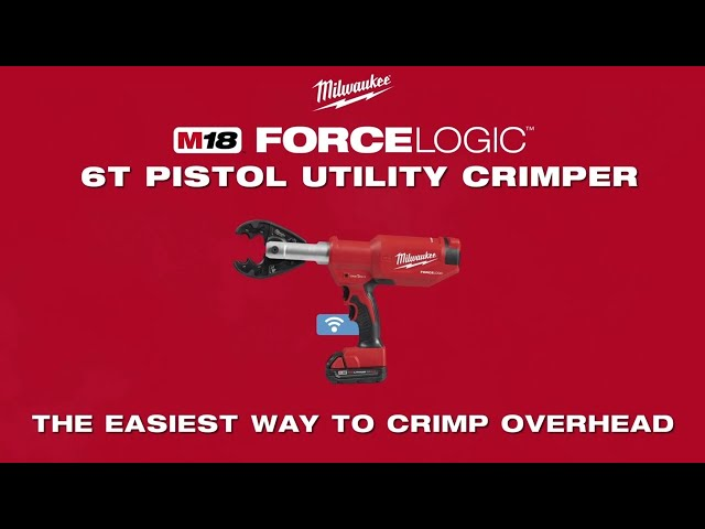 Milwaukee® M18 FORCE LOGIC™ 6 Ton Pistol Utility Crimper