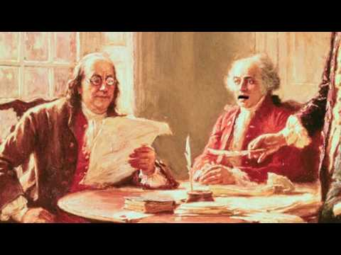 Thomas Jefferson reads The Declaration of Independence