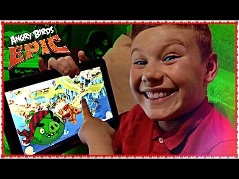 Angry Birds Epic 🐷  ЭПИЧНЫЕ СВИНЬИ 🐷  Мои игры на планшете Обзор iPhone/Android энгри бердс эпик