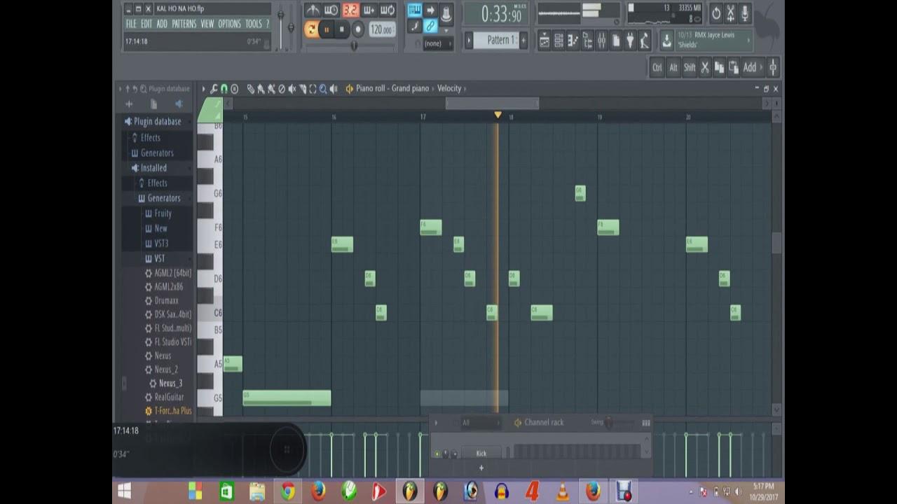 Kal ho na ho melody notes in fl studio youtube kal ho na ho melody notes in fl studio hexwebz Images
