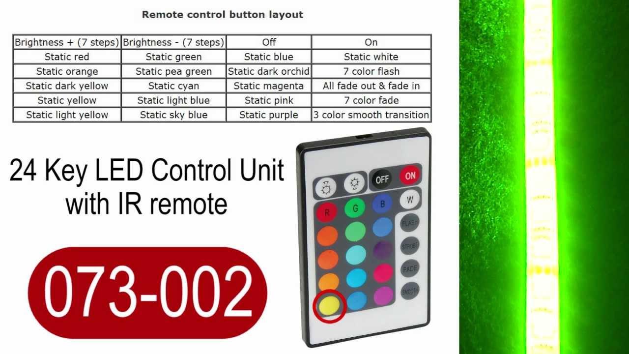 24 Key LED strip light controller YouTube