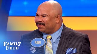 WHOA! Steve Harvey's UNCLE is on the Feud! | Family Feud