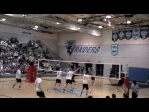 09 NA Varsity Boys VBall at SV Game 1