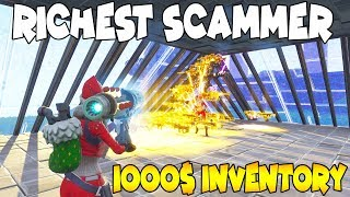 Worlds Richest Scammer is Dumb! (Scammer Gets Scammed) Fortnite Save The World