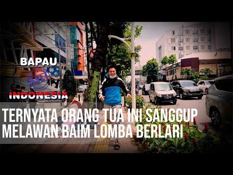 BAPAU ASLI INDONESIA - Tangguh! Ternyata Orang Tua Ini Sanggup Melawan Baim Lomba Berlari .