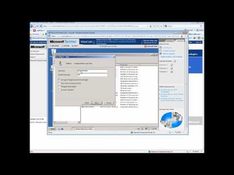 Creating User Accounts And Groups In Windows Server 2008