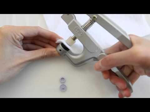How to install plastic snaps