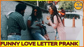 DOUBLE MEANING LOVE LETTER PRANK || PRANK ON CUTE GIRLS || EPISODE - 11 || DILLI K DILER
