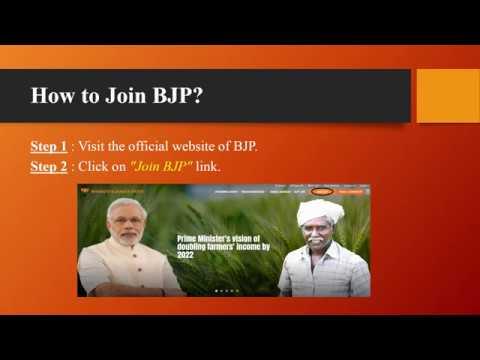 How to Join BJP Bharatiya Janata Party