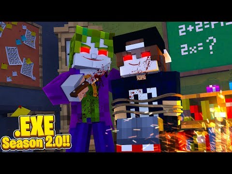 Minecraft EXE 2.0 - THE JOKER .EXE WANTS TO GIVE JACK .EXE HIS SMILE!!