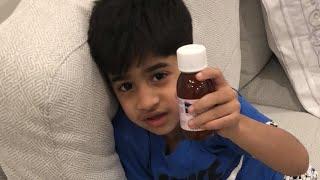 بوبو مريض يشرب الدوا لايف 🌡💊