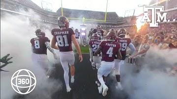 Texas A&M Football | 360 Camera | Team Run Out