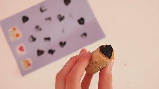Gambar cover Herzstempel basteln- Basteln mit der Bastelfee