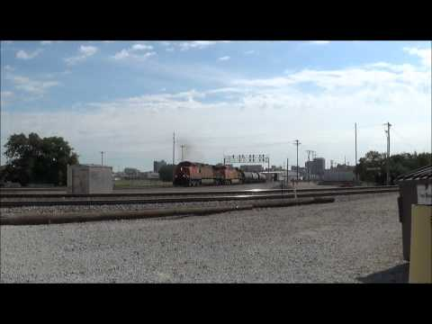 A few trains in Fremont and Lincoln, Nebraska Featuring a ATSF, SD40, and GATX!
