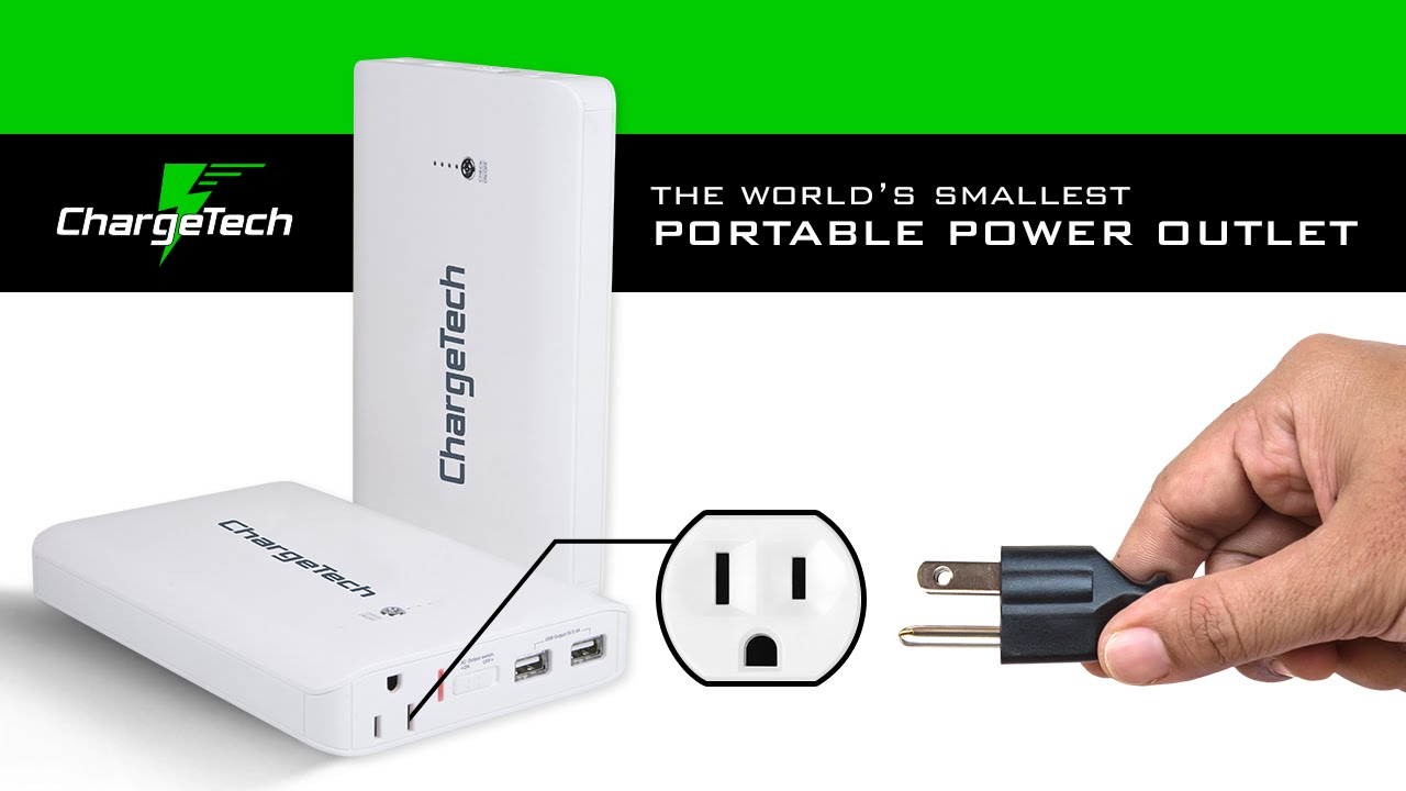 Battery Powered Outlet >> Portable Power Supply World S Smallest Battery With Ac 110v Wall Outlet