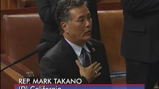 Rep. Mark Takano Leads the House of Representatives in the Pledge of Allegiance