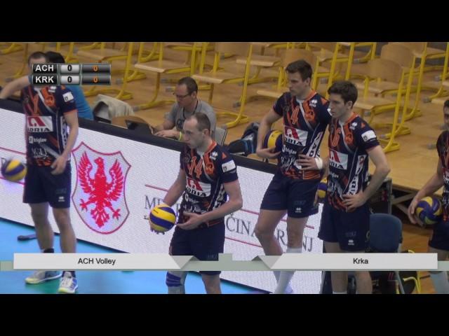 ACH Volley : Krka - odbojka polfinale Kranj