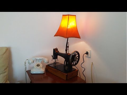 making lamp from an old sewing machine