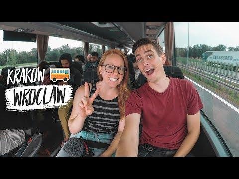 Poland Bus Ride from KRAKOW to WROCŁAW! + City Walking Tour 😍