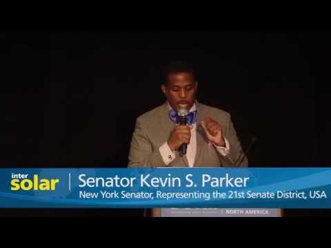 Senator Kevin S. Parker at Intersolar North America 2015