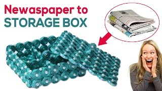 DIY Box With Newspaper - Best Out of Waste Crafts