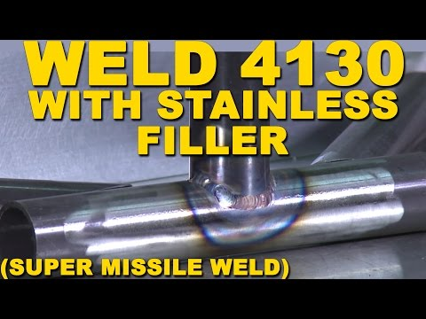 Welding 4130 Chrome Moly With Stainless Steel Filler Super Missile Weld Tig Time Youtube