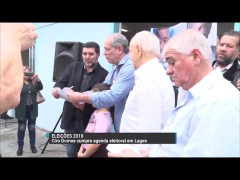 Candidato à presidência, Ciro Gomes visita Lages