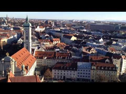 Munich, Germany - Panorama from St. Peter's Church Tower