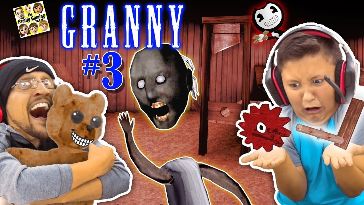 granny has no head she broke my chair has new secrets fgteev escape granny 3 gurkey - fgteev fortnite creative