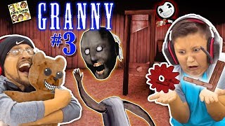 GRANNY HAS NO HEAD, SHE BROKE MY CHAIR HAS NEW SECRETS FGTEEV ESCAPE GRANNY 3 GURKEY