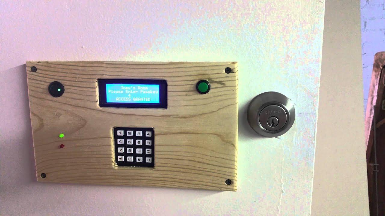 arduino powered door lock system youtube