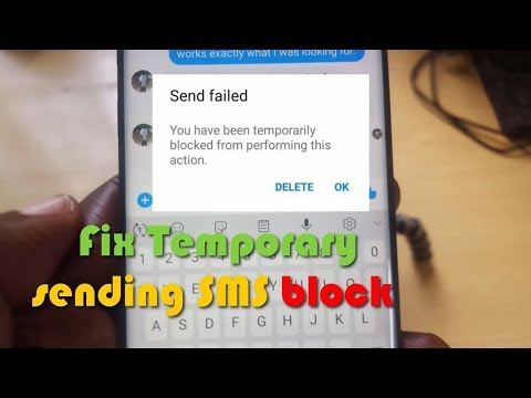 Fix Temporary Sending SMS Block In Facebook