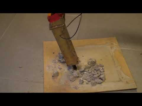 RC demolition hammer first test