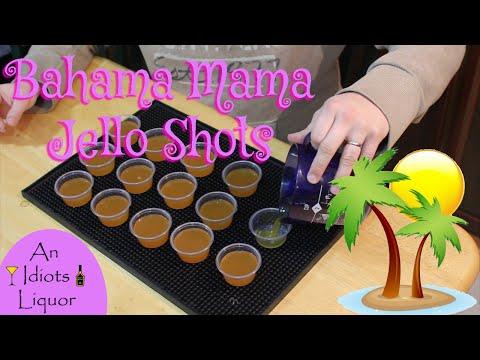 Bahama Mama Jello Shots - A Twist On The Classic Rum Cocktail Recipe.