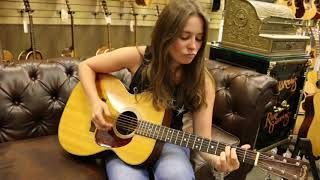 One of our favorite guitarist, Angela Petrilli, playing our 1948 Ma...