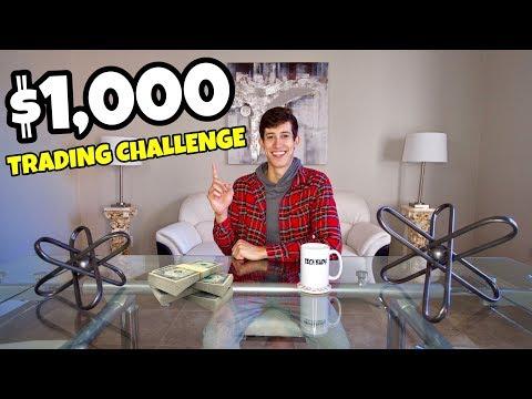 $1,000 Beginner Stock Trading Challenge 2019💰📈