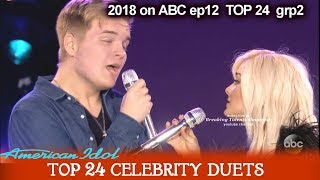 """Caleb Lee Hutchinson and Bebe Rexha Duet """" Meant To Be""""  Top 24 Celebrity Duets American Idol 2018"""