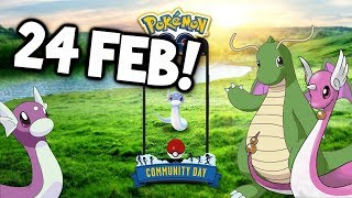 2ND POKEMON GO COMMUNITY DAY ANNOUNCED! (SHINY DRATINI AVAILABLE?)