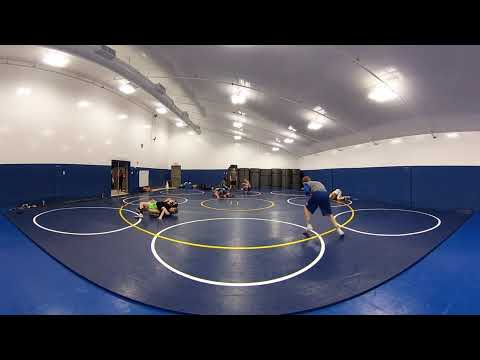 360 Degree View of Multi-Sport Facility with Wrestlers - Tension Fabric Sports Facility