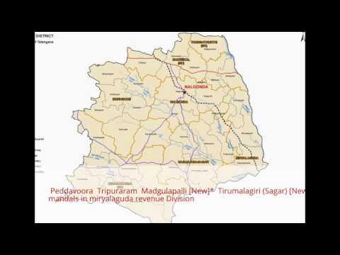 Telangana New Districts - Nalgonda and Divisions