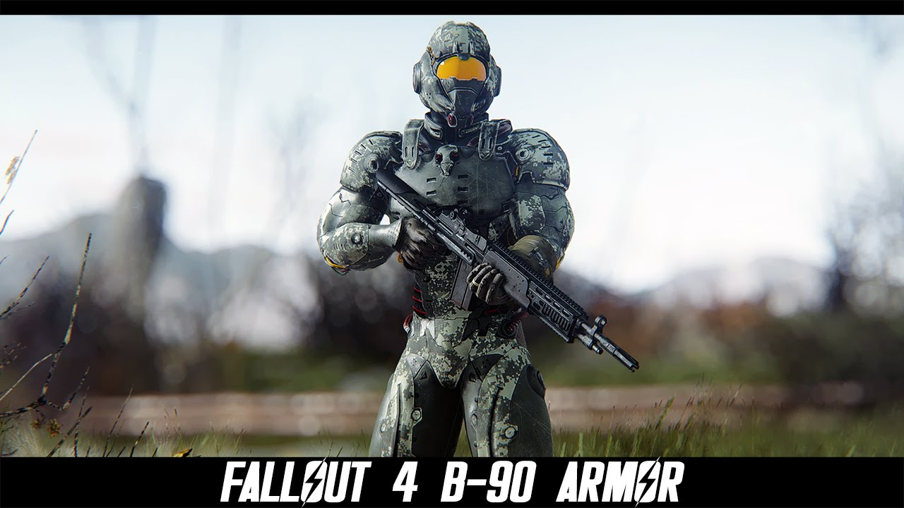 fallout 4 mods b 90 armor by l0rd0fwar youtube. Black Bedroom Furniture Sets. Home Design Ideas