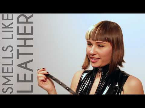 Reed Amber Presents Deluxe Bondage  Black Leather Studded Leash / Lead thumbnail